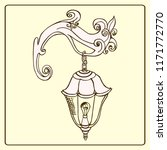 vintage lamp. vector sketch... | Shutterstock .eps vector #1171772770