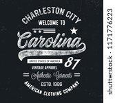 carolina typography. vintage... | Shutterstock .eps vector #1171776223