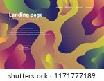 landing page with trendy... | Shutterstock .eps vector #1171777189