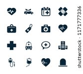 emergency icon. collection of... | Shutterstock .eps vector #1171777336