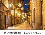 street in old town  gamla stan  ...   Shutterstock . vector #1171777630