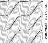 black and white wave background.... | Shutterstock .eps vector #1171778233