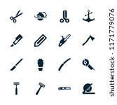 sharp icon. collection of 16... | Shutterstock .eps vector #1171779076