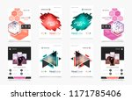abstract patch brochure cover ... | Shutterstock .eps vector #1171785406