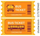 bus ticket. vehicle passenger... | Shutterstock .eps vector #1171785460