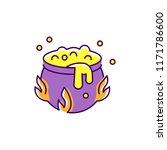 halloween cauldron icon. witch... | Shutterstock .eps vector #1171786600