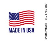 made in usa icon with american... | Shutterstock .eps vector #1171789189