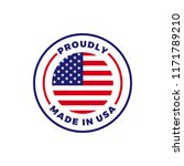 made in usa label icon with... | Shutterstock .eps vector #1171789210
