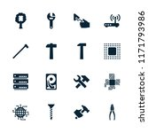 hardware icon. collection of 16 ... | Shutterstock .eps vector #1171793986