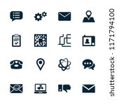 communication icon. collection... | Shutterstock .eps vector #1171794100