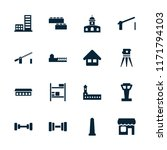 building icon. collection of 16 ... | Shutterstock .eps vector #1171794103