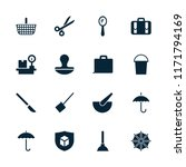 handle icon. collection of 16... | Shutterstock .eps vector #1171794169