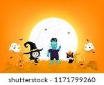 halloween invitation poster... | Shutterstock .eps vector #1171799260