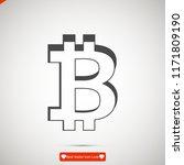 bitcoin vector icon  stock... | Shutterstock .eps vector #1171809190