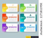 infographics design template 3d ... | Shutterstock .eps vector #1171811950