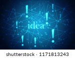 2d illustration future... | Shutterstock . vector #1171813243