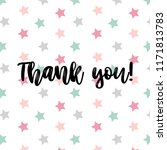 thank you card with hand... | Shutterstock .eps vector #1171813783