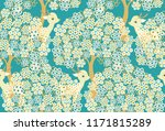 seamless vector pattern with... | Shutterstock .eps vector #1171815289