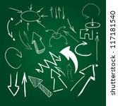 set of hand drawn arrows | Shutterstock .eps vector #117181540