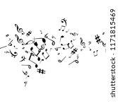 musical signs. modern...   Shutterstock .eps vector #1171815469