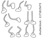 vector set of cartoon leg | Shutterstock .eps vector #1171815673