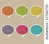 retro speech bubbles  raster... | Shutterstock . vector #117181753