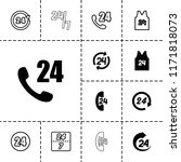 24 icon. collection of 13 24...   Shutterstock .eps vector #1171818073