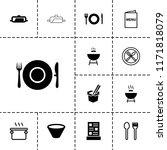 cook icon. collection of 13... | Shutterstock .eps vector #1171818079