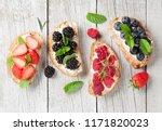 brushetta or traditional... | Shutterstock . vector #1171820023