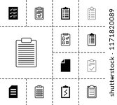 clipboard icon. collection of... | Shutterstock .eps vector #1171820089