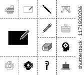 pictograph icon. collection of... | Shutterstock .eps vector #1171820206