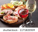 rose and white wine with... | Shutterstock . vector #1171820509