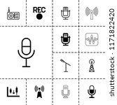radio icon. collection of 13... | Shutterstock .eps vector #1171822420
