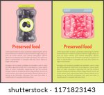 preserved food in glass... | Shutterstock .eps vector #1171823143