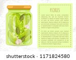 pickles cucumbers with bay... | Shutterstock .eps vector #1171824580