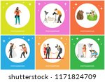 journalist making shots of... | Shutterstock .eps vector #1171824709