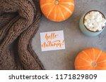 autumn background with warm... | Shutterstock . vector #1171829809