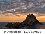 glowing sun  cloudy sky over... | Shutterstock . vector #1171829839