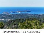 distant view to rocky coastline ... | Shutterstock . vector #1171830469