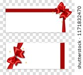 holiday gift banner with red... | Shutterstock .eps vector #1171832470