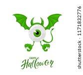 green monster for halloween... | Shutterstock .eps vector #1171832776