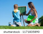 happy mother with the son... | Shutterstock . vector #1171835890