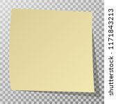 yellow sticker with shadow... | Shutterstock . vector #1171843213
