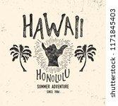 hawaii typography.  vintage... | Shutterstock .eps vector #1171845403