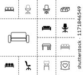 comfortable icon. collection of ... | Shutterstock .eps vector #1171846549