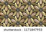 3d wood tiles with gold matte... | Shutterstock . vector #1171847953