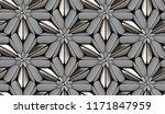 3d gray matte tiles with silver ...   Shutterstock . vector #1171847959