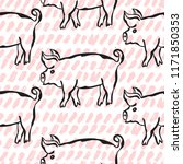 elegant seamless pattern with... | Shutterstock .eps vector #1171850353