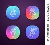 chatbots app icons set. ui ux... | Shutterstock .eps vector #1171856296