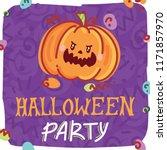 halloween party illustration... | Shutterstock .eps vector #1171857970
